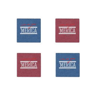 Love me Some Merica Stone Magnet