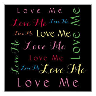 Love Me Word Art