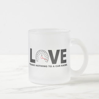 Love Means Nothing to a Car Racer 2 Coffee Mugs