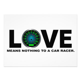 Love Means Nothing to a Car Racer 3 Custom Invitation