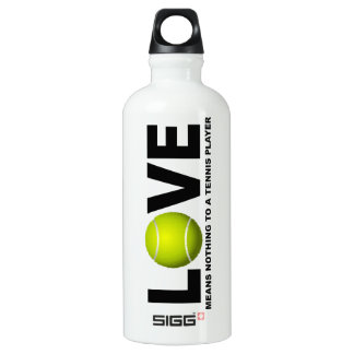 Love Means Nothing to a Tennis Player Water Bottle