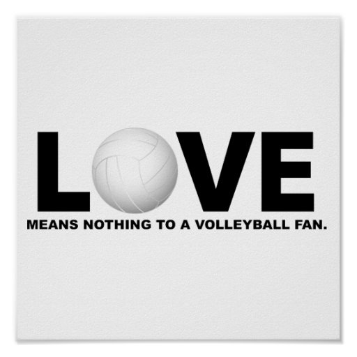 Love Means Nothing to a Volleyball Fan 1 Posters