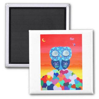 Love Meditations Square Magnet