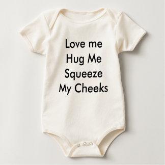 Love meHug MeSqueeze My Cheeks Baby Bodysuit