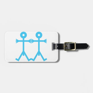 Love Men Icon Art Blue Luggage Tag