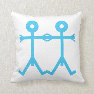Love Men Icon Art Throw Pillow