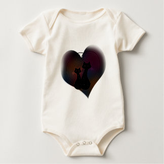 Love Meow Forever Baby Bodysuits