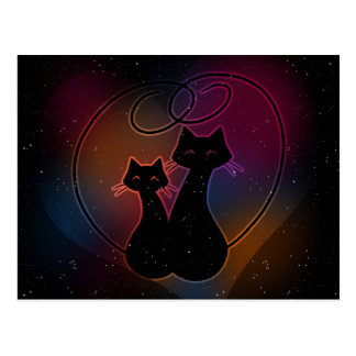 Love Meow Forever Postcard