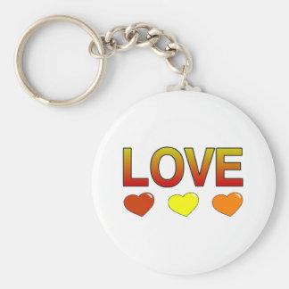 Love merchandise basic round button key ring