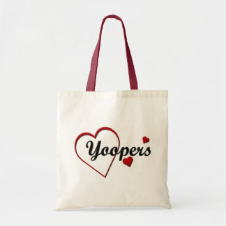 Love Michigan Yoopers Tote Bag