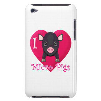 Love Micro Pigs Barely There iPod Cases