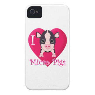 Love Micro PIgs iPhone 4 Covers