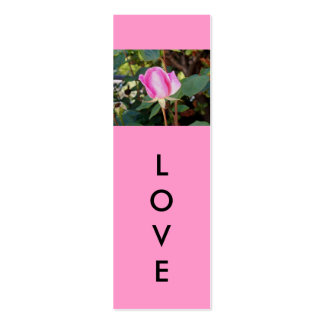 Love Mini Bookmarks Double-Sided Mini Business Cards (Pack Of 20)