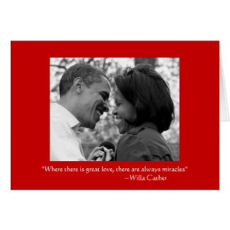 LOVE & MIRACLES, OBAMA LOVE CARD - BLANK INSIDE