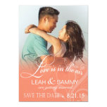 Love Mist Photo Save the Date   peach 13 Cm X 18 Cm Invitation Card