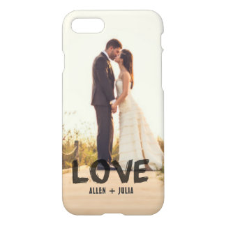 Love Modern Couples Hand Painted Overlay Photo iPhone 8/7 Case