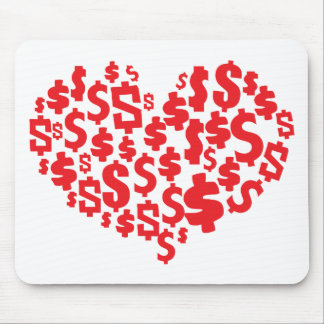 LOVE MONEY MOUSE PAD