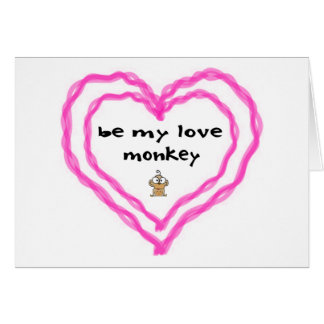 Love Monkey Card
