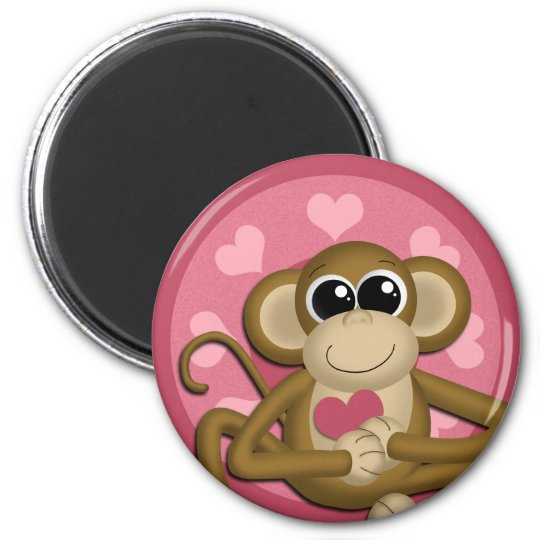 Love Monkey Pink magnet