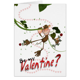 Love Monkey Valentine's Day Card - Be My Valentine