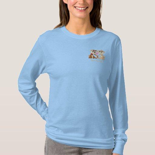 Love Monkeys Embroidered Long Sleeve T-Shirt