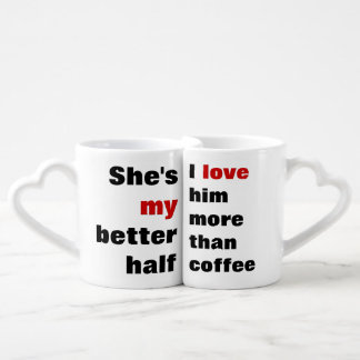 love more than coffee coffee mug set