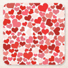 Love Mosaic Square Paper Coaster