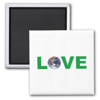 Love Mother Earth Square Magnet