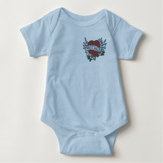 Love Mother Tattoo Baby Bodysuit