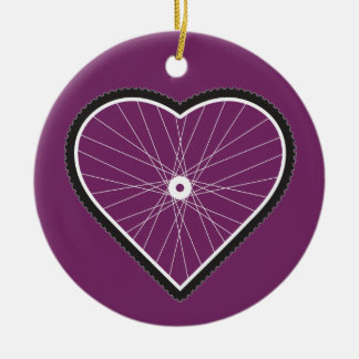 Love Mountain Biking Christmas Ornament