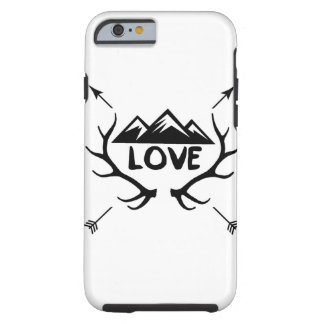 Love Mountains, Antlers and Arrows Tough iPhone 6 Case