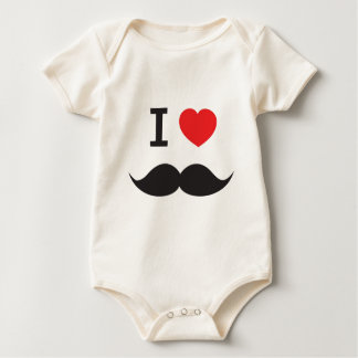 Love Moustache Baby Bodysuit