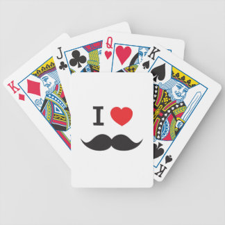 Love Moustache Bicycle Playing Cards