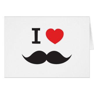 Love Moustache Card