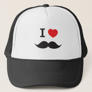 Love Moustache Trucker Hat