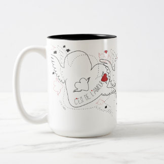love mug in French style