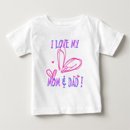 Love Mum Dad Baby T-Shirt