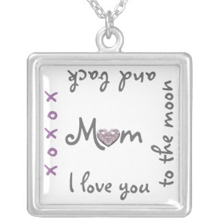 Love Mum to moon and back necklace