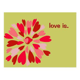 Love Mum Valentine Postcard