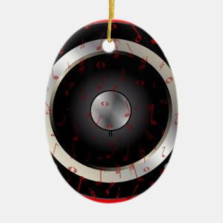 Love Music Ceramic Oval Decoration