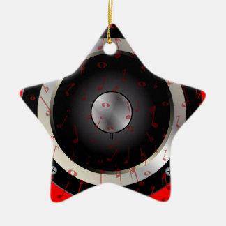 Love Music Ceramic Star Decoration