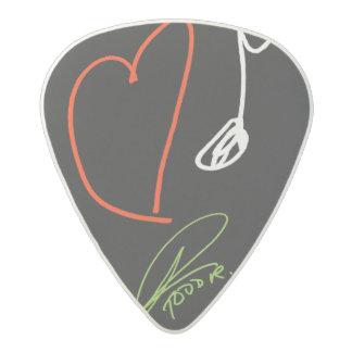 Love Music Guitar Pick Med. Gauge Acetal Guitar Pick