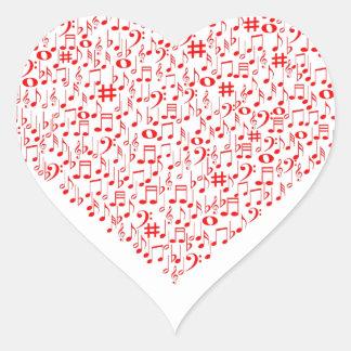 LOVE MUSIC HEART STICKER