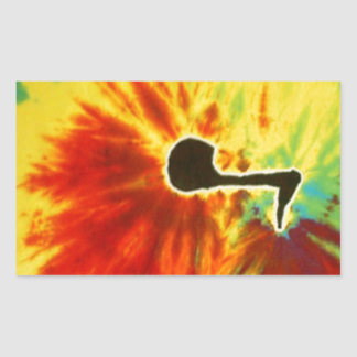 Love Music Note Tie Dye PhatDyes Rectangular Sticker