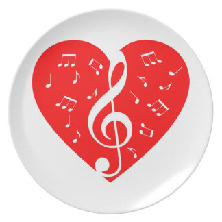 Love Music Party Plates