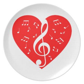 Love Music Plate
