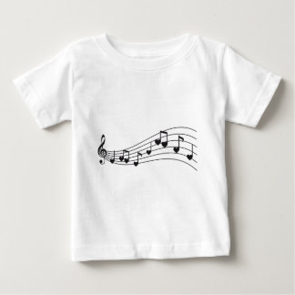 love music, red musical notes with hearts design baby T-Shirt