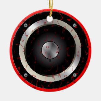 Love Music Round Ceramic Decoration