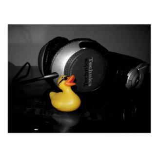 """Love Music"" Rubber Duck Postcard"