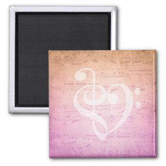 Love Music Square Magnet